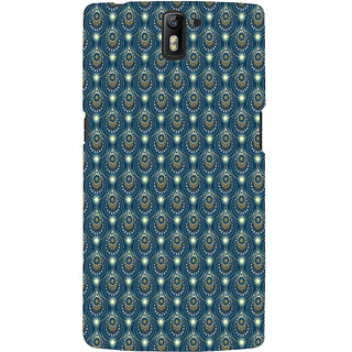 ifasho Animated Pattern design colorful flower in royal style Back Case Cover for One Plus One