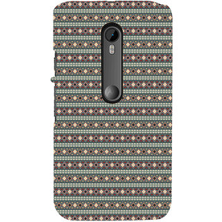 ifasho Animated Pattern colrful 3Dibal design rajasthani style Back Case Cover for Moto G3