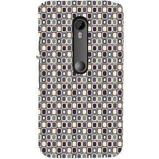 ifasho Colour Full Square Pattern Back Case Cover for Moto G3