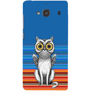 ifasho ModernBird and Owl Pattern Back Case Cover for Redmi 2S