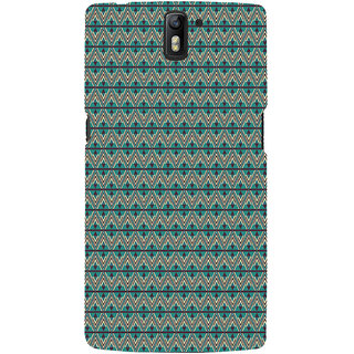 ifasho Animated Pattern of Chevron Arrows royal style Back Case Cover for One Plus One