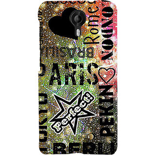 ifasho water Drop on Colurful love and city names Back Case Cover for Micromax CanvasNitro3E455
