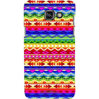 ifasho multi color 3Diangular and circle Pattern Back Case Cover for Samsung Galaxy A5 A510 (2016 Edition)