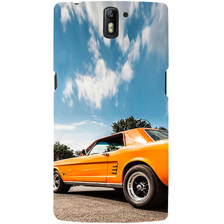 ifasho Orange colour Car Back Case Cover for One Plus One