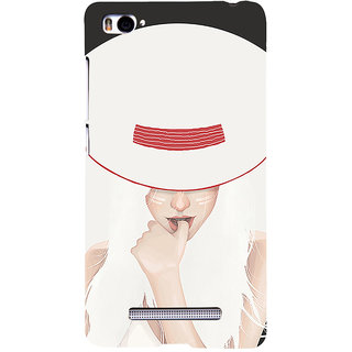 ifasho Gorgeous Winking Girl in white hat Back Case Cover for Redmi Mi4i