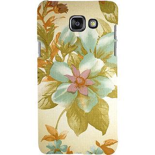ifasho Animated Pattern colrful design flower with leaves Back Case Cover for Samsung Galaxy A7 A710 (2016 Edition)