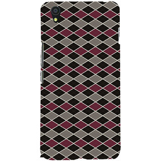ifasho Animated Pattern of Chevron Arrows royal style Back Case Cover for One Plus X