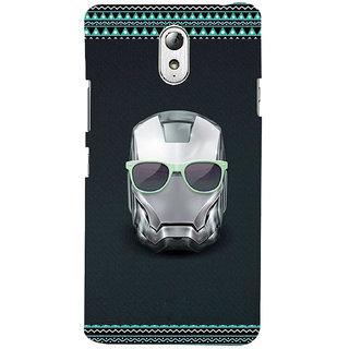 ifasho Angry mask iron Back Case Cover for Lenovo Vibe P1M
