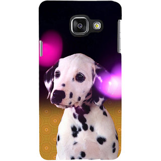 ifasho Black and White Dot Dog Back Case Cover for Samsung Galaxy A3 A310 (2016 Edition)