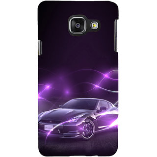 ifasho Purple car Back Case Cover for Samsung Galaxy A3 A310 (2016 Edition)