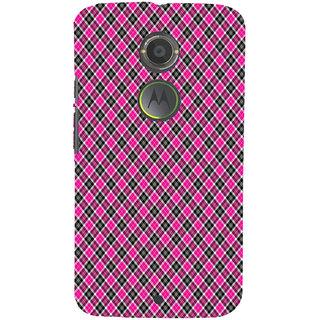 ifasho Colour Full Square Pattern Back Case Cover for Motorola MOTO X2