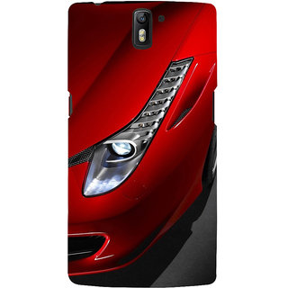 ifasho Red Royal colour Car Back Case Cover for One Plus One