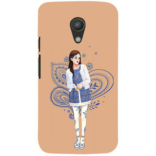 ifasho Beautiful Girl Back Case Cover for Moto G2
