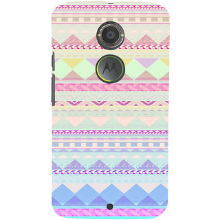 ifasho multi color 3Diangular Pattern Back Case Cover for Motorola MOTO X2