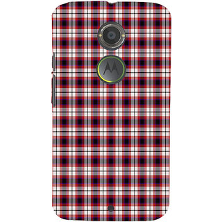 ifasho Colour Full Squre Pattern Back Case Cover for Motorola MOTO X2