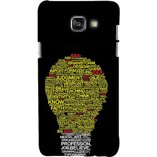 ifasho Quotes on idea animated bulb Back Case Cover for Samsung Galaxy A7 A710 (2016 Edition)