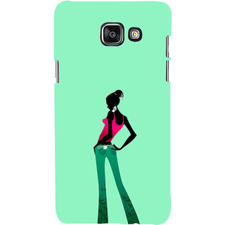 ifasho Girl standing in fashion Back Case Cover for Samsung Galaxy A7 A710 (2016 Edition)