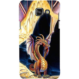 ifasho animated Dragon Back Case Cover for Samsung Galaxy A7 A710 (2016 Edition)