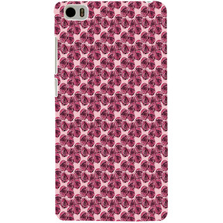 ifasho Animated Pattern small purple rose flower Back Case Cover for Redmi Mi5