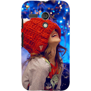 ifasho Little girl laughing Back Case Cover for Moto G