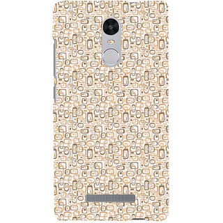 ifasho single color rectangle and circle and dots Pattern Back Case Cover for REDMI Note 3