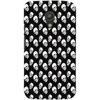ifasho Modern  Design skeleton Pattern Back Case Cover for Moto G2