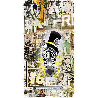 ifasho Animated Pattern of zebra Print Back Case Cover for Redmi Mi4i