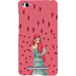 ifasho Cute Girl animated Back Case Cover for Redmi Mi4i
