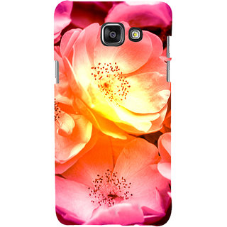 ifasho Flowers Back Case Cover for Samsung Galaxy A7 A710 (2016 Edition)