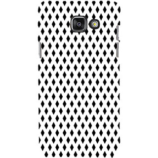 ifasho chevron style and Checks In black and white Pattern Back Case Cover for Samsung Galaxy A7 A710 (2016 Edition)