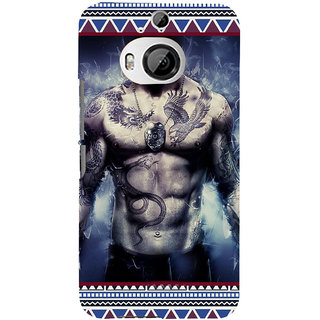 ifasho tatoo man six pack Back Case Cover for HTC ONE M9 Plus