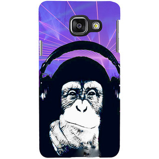 ifasho Monkey with headphone Back Case Cover for Samsung Galaxy A3 A310 (2016 Edition)