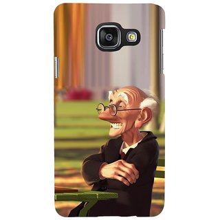 ifasho Old man playing chess animated design Back Case Cover for Samsung Galaxy A3 A310 (2016 Edition)