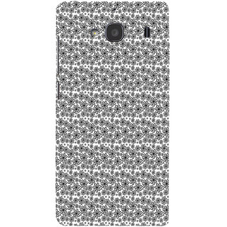 ifasho Animated Pattern black and white flower Back Case Cover for Redmi 2S