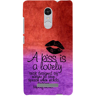 ifasho Kiss Quote Back Case Cover for REDMI Note 3