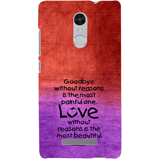 ifasho Love Quote Back Case Cover for REDMI Note 3