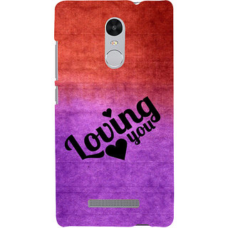 ifasho Loving you Back Case Cover for REDMI Note 3