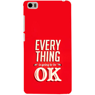 ifasho everything will be ok quotes Back Case Cover for Redmi Mi5