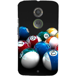 ifasho Design colourful biliards ball pattern Back Case Cover for Motorola MOTO X2