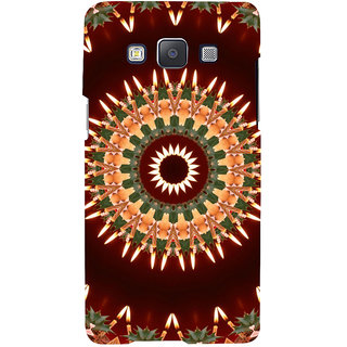 ifasho Animated Pattern design colorful flower in royal style Back Case Cover for Samsung Galaxy A7