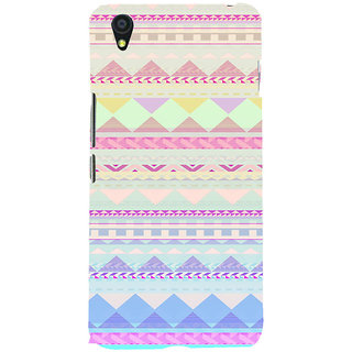 ifasho multi color 3Diangular Pattern Back Case Cover for One Plus X