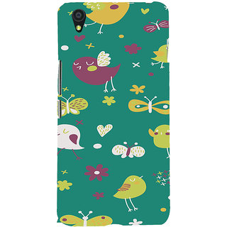 ifasho Animated Pattern birds and butterfly Back Case Cover for One Plus X