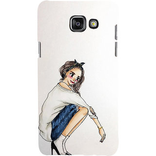 ifasho Sitting Girl Back Case Cover for Samsung Galaxy A5 A510 (2016 Edition)