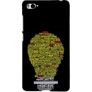 ifasho Quotes on idea animated bulb Back Case Cover for Redmi Mi4i