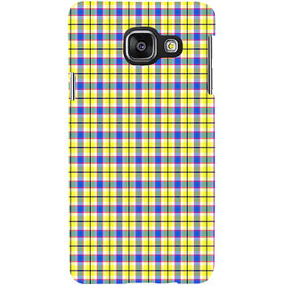 ifasho Colour Full yellow Squre Pattern Back Case Cover for Samsung Galaxy A3 A310 (2016 Edition)