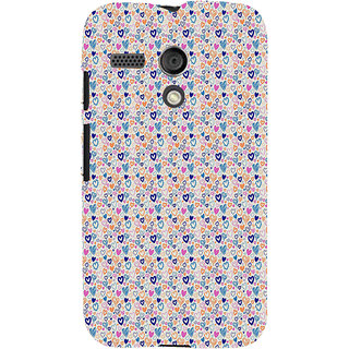 ifasho Modern Art Design Pattern with Lot Of small heart Back Case Cover for Moto G