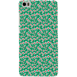 ifasho Pattern green white and red animated flower design Back Case Cover for Redmi Mi5
