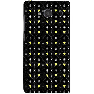 ifasho Modern Art Design Pattern with Lot Of small heart and anchor Back Case Cover for Redmi 2S