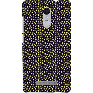 ifasho Animated Pattern colourful littel stars Back Case Cover for REDMI Note 3