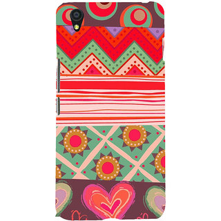 ifasho Animated Pattern colrful 3Dibal design Back Case Cover for One Plus X